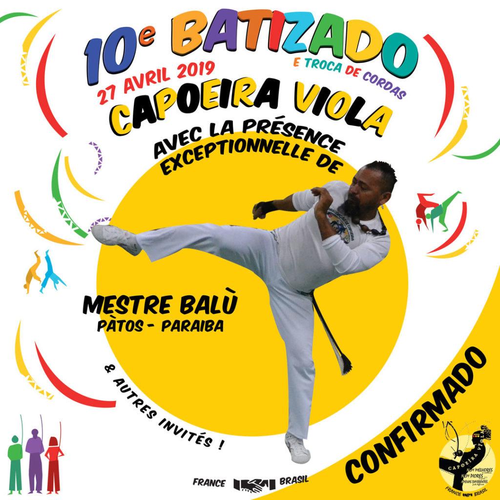 Mestre Balu CONFIRMADO 10o batizado Capoeira Viola