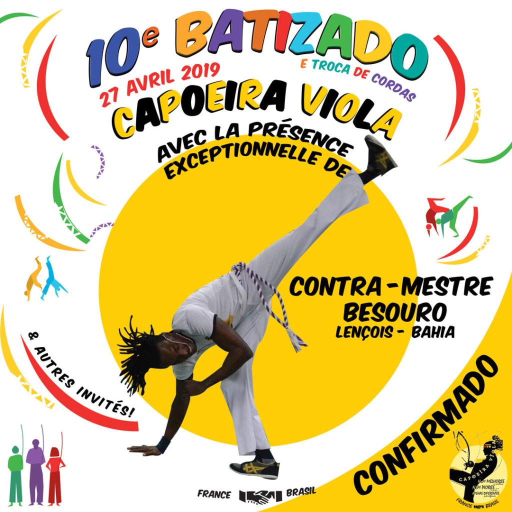 Contra-mestre Besouro CONFIRMADO 10o batizado Capoeira Viola