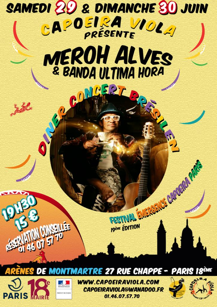 Diner-concert brésilien Meroh Alves Emergence Capoeira 2019