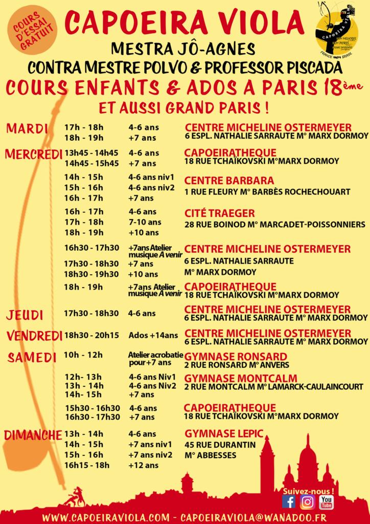 Capoeira Viola: cours-enfants-ado-2019-Paris
