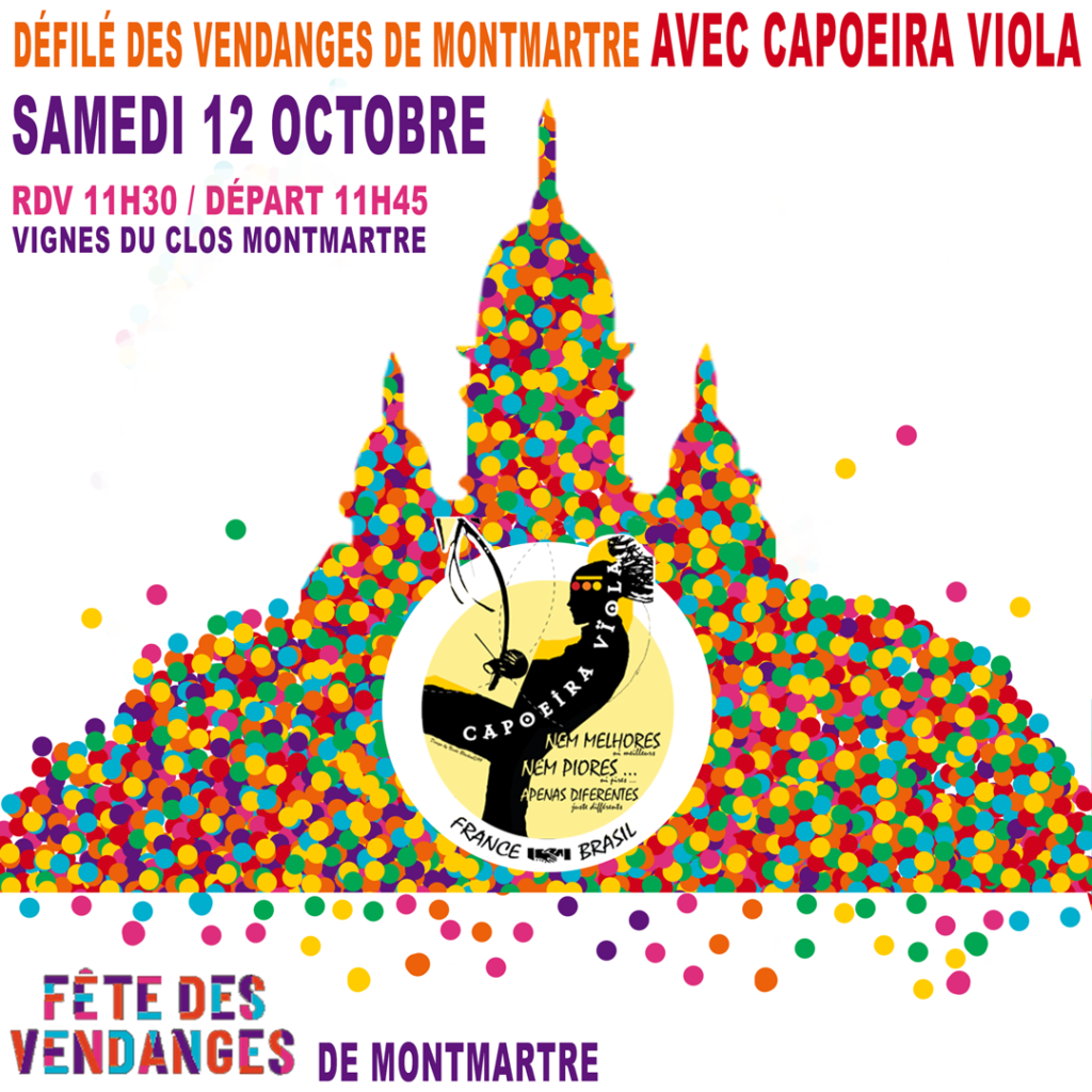 CapoeiraViola au défilé des vendanges de montmartre 2019