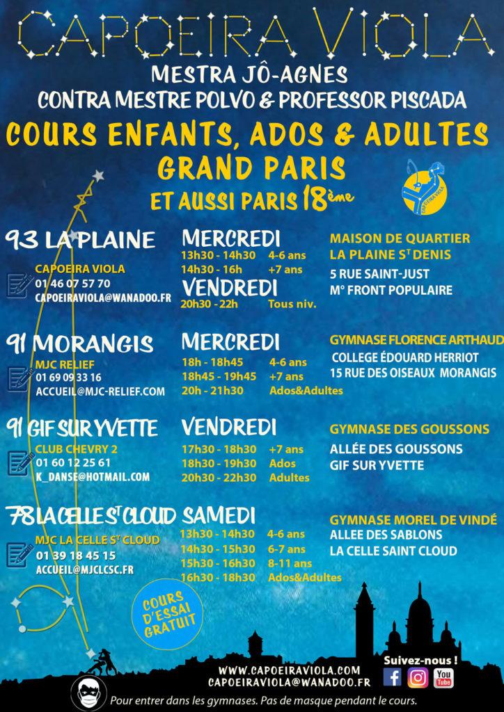 programmeCapoeiraViola enfants ados adultes 2021-2022 Grand Paris